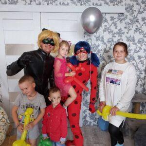 Леди Баг и СуперКот на день рождении в Минске