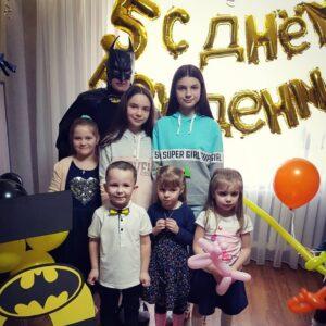 Аниматор Бетмен на детском празднике